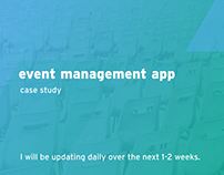 Event Management App Case Study - In Progress