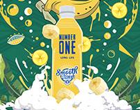 Number 1 Mageu Banana Flavoured Drink Illustration