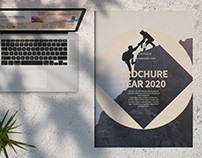 Brochure Layout with Tan Accents