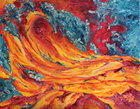 Lava waves - Oil painting