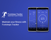 Footsteps Tracker - Pedometer App Concept (Android)
