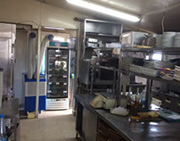 Restaurant kitchen cooling/dehumidifying solution