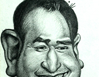 Indian Cricket Captain Doni Caricature
