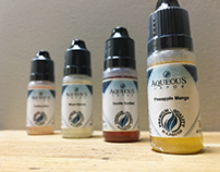 Aqueous Vapor House E-Liquid Labels
