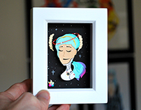 Paper cuts: Space Girl