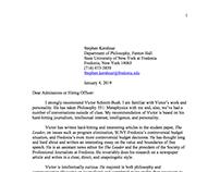 Stephen Kershnar Recommendation Letter
