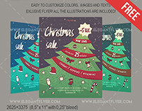 Christmas Sale – Free Flyer PSD Template + Facebook Cov