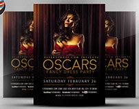 Oscars Fancy Dress Party Flyer Template