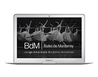 Ballet de Monterrey Website Design