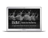 Ballet de Monterrey 2015 - Website Design