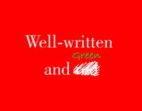 Well written and green