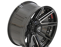 4PLAY: 4P60 Brushed Black Aftermarket Wheels