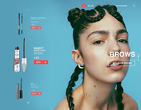 make up/ cosmetics shop online site, prototype design