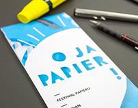 Paper festival leaflet / poster design