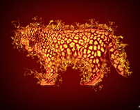 Fire Leopard (Photoshop)