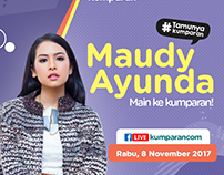 """Poster #Tamunyakumparan """"Maudy Ayunda"""""""