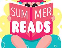 """Summer Reads"" Editorial Illustration & Layout"