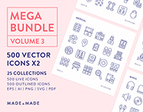 Line Icons – Mega Bundle Volume 3