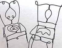 Small Wire Chairs