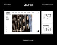 LEGENDA | Website Redesign