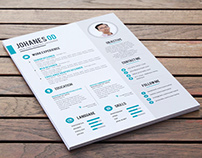 Free Clean PSD Resume Template for Job Seeker