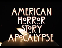 American Horror Story Main Title design