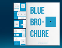 Blue Brochure Layout