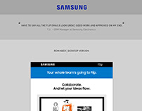 Samsung Flip email launch and reminder