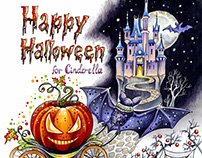 Hand drawn illustration for Halloween