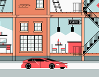 Lofts — animated illustartions