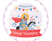 Stickers to celebrate Armenian holidays