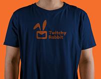 Twitchy Rabbit logo design