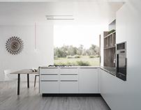 Cesar Ariel Kitchen | Sliced Grey Larch