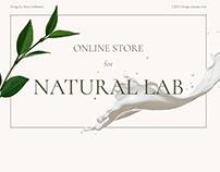 Natural Lab | e-store design