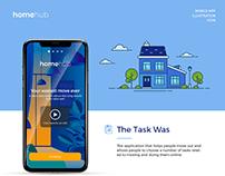 HOMEHUB - Illustration app design