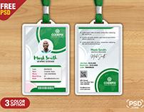Simple Corporate Office Identity Card Design PSD