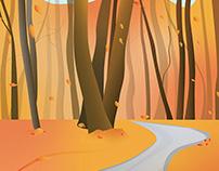 Hello Autumn created in Illustrator on iPad