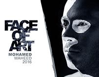 Face of Art - black & white