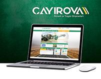 ÇAYIROVA Web Arayüz Tasarım + Yazılım