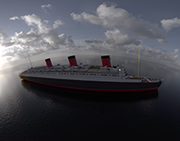 180 3D animation for Queen Mary Museum.