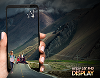 Mobile HD Display Creative For Social Media