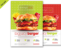 Free Flyer PSD Template -Burger Flyer