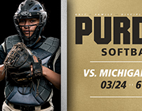 Purdue | Softball Social Media Templates