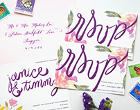 Floral Jamming Invitation Design