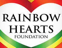 RAINBOW HEARTS FOUNDATION LOGO DESIGN