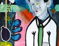 Portrait matisse, 2015 (46*38 cm - Acrylique sur toile)
