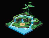 Tiny Isometric Pond
