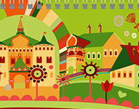 Nizhny Novgorod, illustrations for the calendar