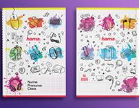 Hama Romania School Notebook graphics
