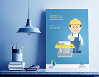Creative Cyber Security Awareness Posters for Satorp